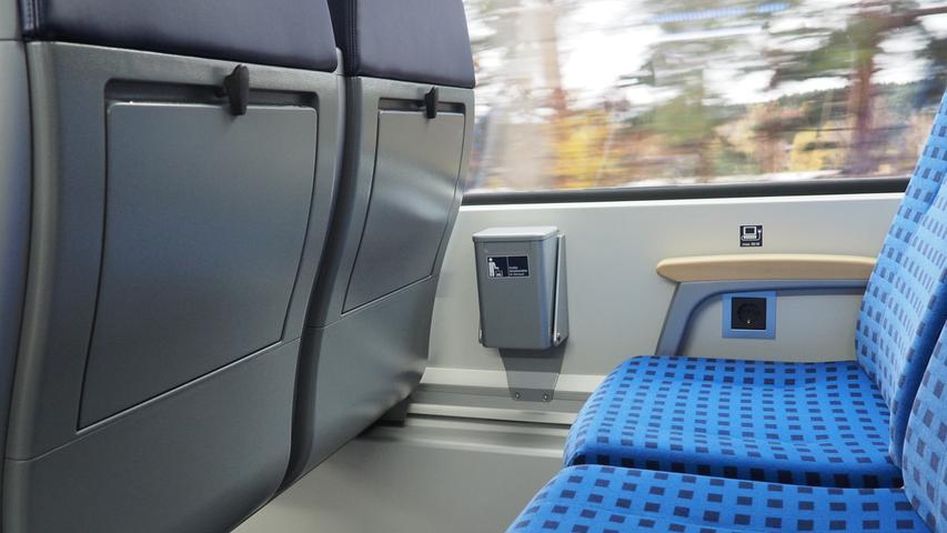 Neu sind unter anderem die Steckdosen in jeder Sitzreihe...