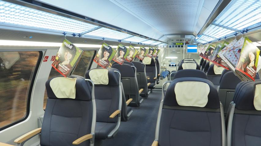 Fahrgäste der ersten Klasse können wie im ICE ihre Sitze verstellen.