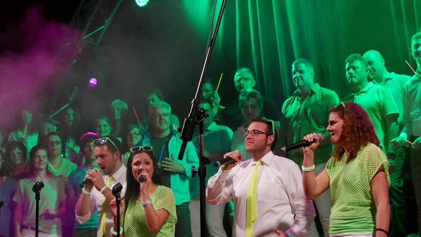 Begeisterten mit Acapella-Gesang: Nina Preiß, Michaela Billert, Fabian Schiefer und Simon Schoierer.