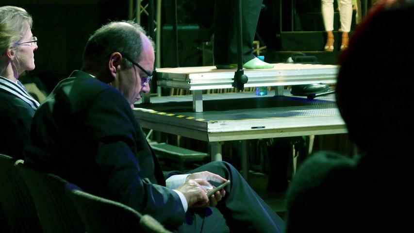 ... auch wenn ihn schließlich der Gesamtchor mit dem Bühnenrekord in seinen Bann zog...