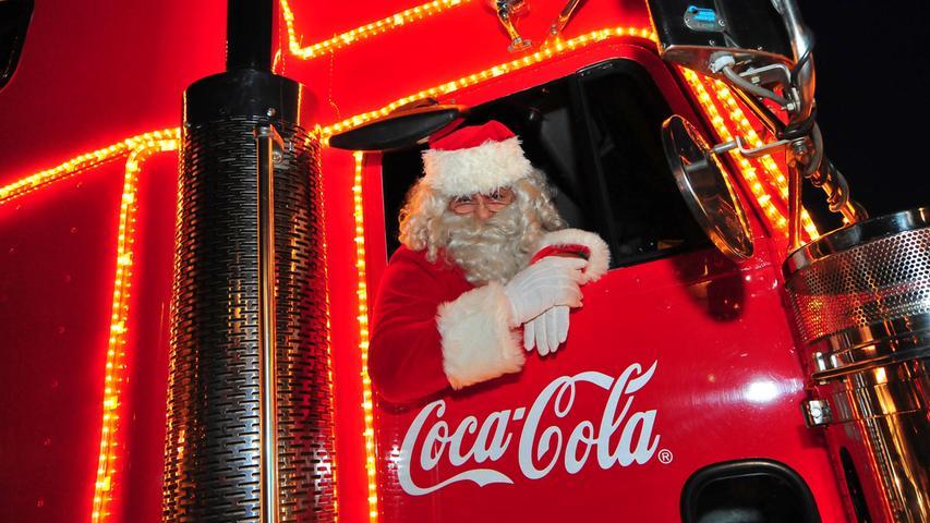 Der Coca-Cola-Weihnachtstruck zu Gast in Kirchehrenbach