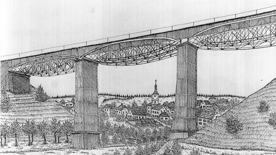 Die neue und die alte Aurachtalbrücke in Bildern