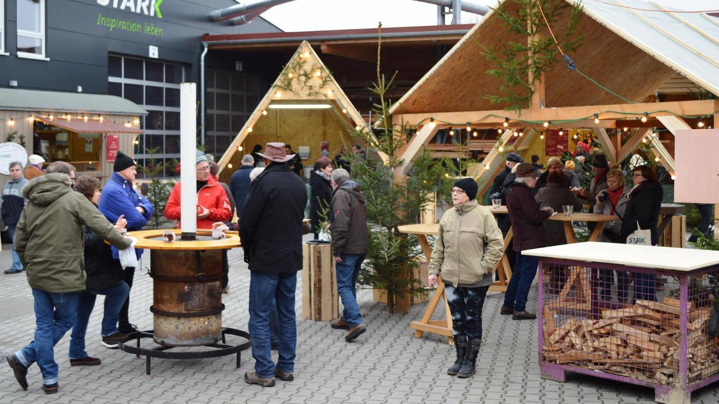 Beim Weihnachtsmarkt der Firma Stark in Auhausen ist immer einiges geboten.