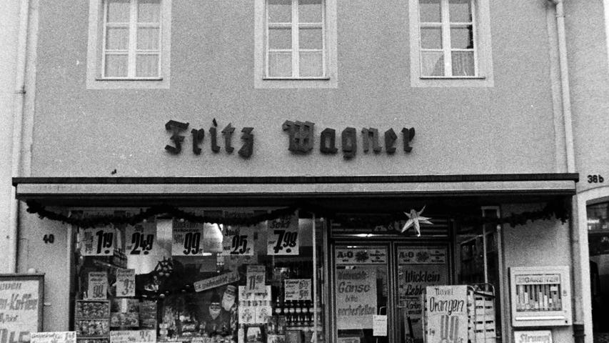 Das Feinkostgeschäft von Fritz Wagner besteht auch heute noch, grundlegend modernisiert unter unter dem neuen Namen