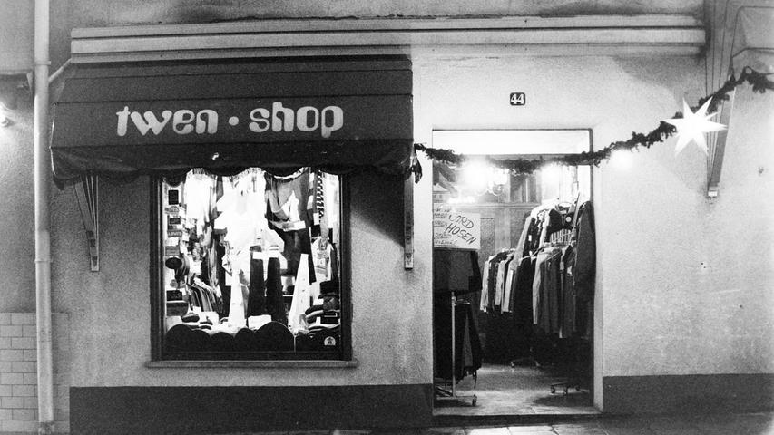 Der Twen-Shop am Marktplatz, der erste Laden des heutigen Modegeschäfts Langer.