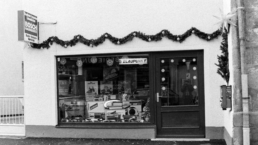 Das einstige Elektrogeschäft Bube in der Schloßstraße. Heute findet sich dort eine Pizza-Stube.