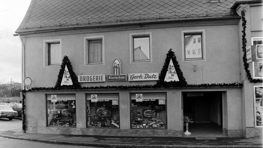 Ebenfalls Geschichte: Die Drogerei Dutz in der Karmühle.