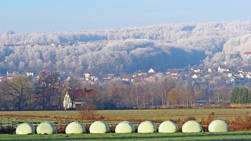 Treuchtlinger Nagelberg trägt eine eisige Wintermütze
