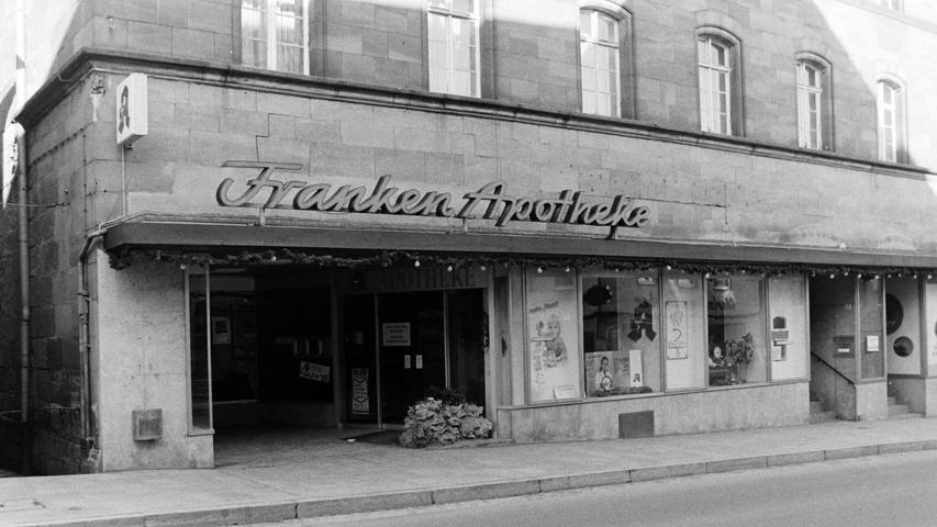 Auch heute ist die Franken-Apotheke noch im Pegnitzer Gesundheitszentrum untergebracht, allerdings mehrfach modernisiert.