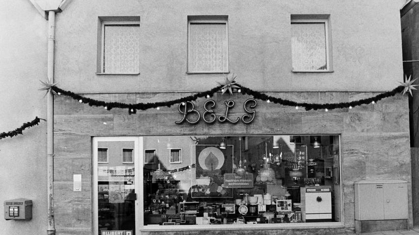 Auch ein Bezirksbüro der BELG, einem Vorgänger der heutigen E.ON, befand sich einst am Unteren Markt in Pegnitz.