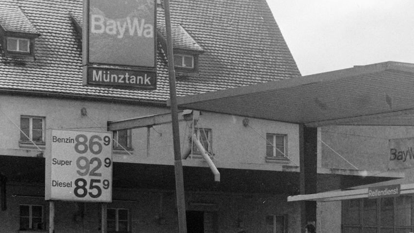 Wo sich heute der diska-Markt befindet, betrieb die BayWa lange Zeit ein Lagerhaus und eine Tankstelle.