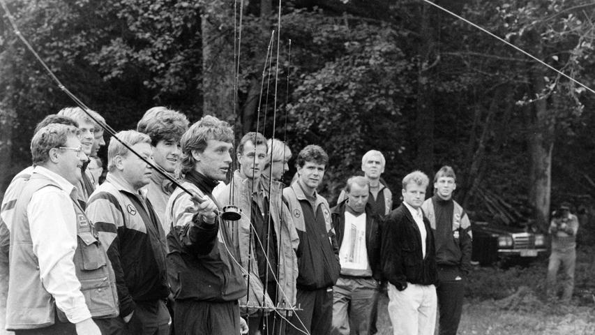 Ein Ausflug führte die Nationalmannschaft an die Wiesent bei Waischenfeld. Foto: NN-Archiv