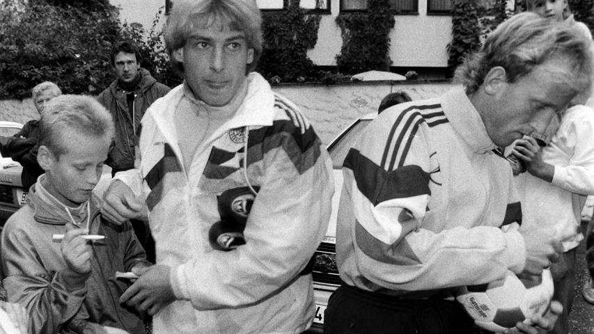 Jürgen Klinsmann und Andi Brehme in Aktion. Foto: NN-Archiv