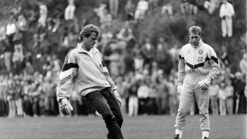 Sepp Maier beim Training mit Andi Köpke. Foto: NN-Archiv
