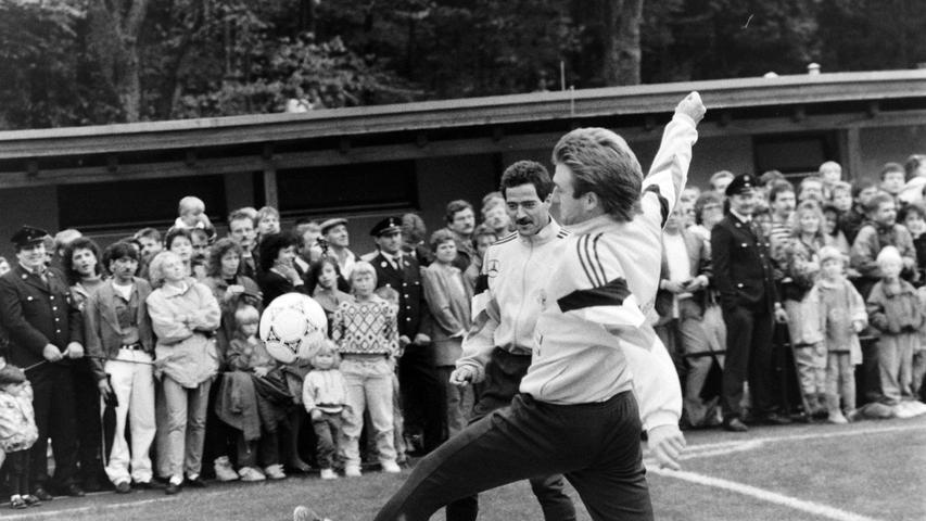 Die Zuschauer bekamen beim Training einiges geboten. Foto: NN-Archiv