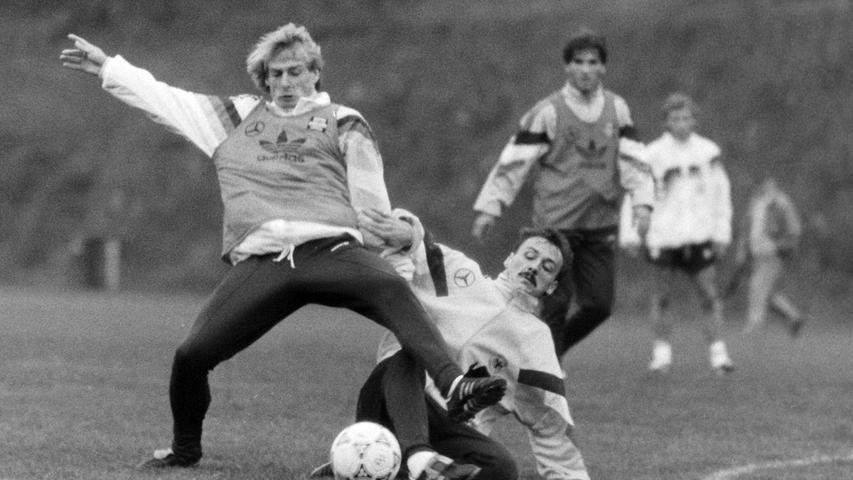 Jürgen Klinsmann in Aktion. Foto: NN-Archiv