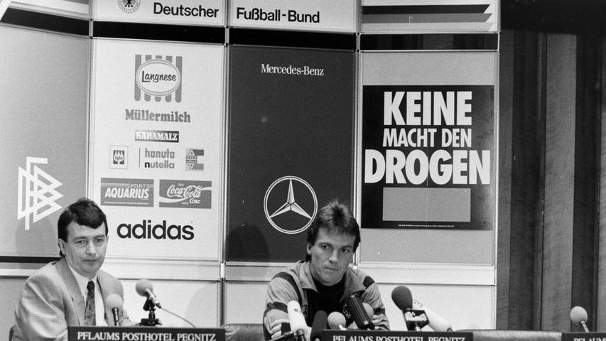 Pressekonferenz im PPP mit Wolfgang Niersbach und Lothar Matthäus. Foto: NN-Archiv