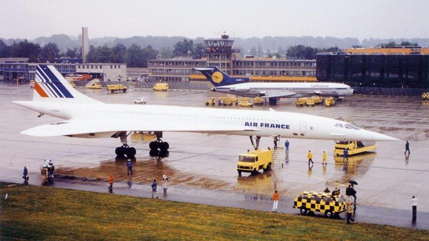 Concorde und Co.: Diese Flugzeuge besuchten Nürnberg