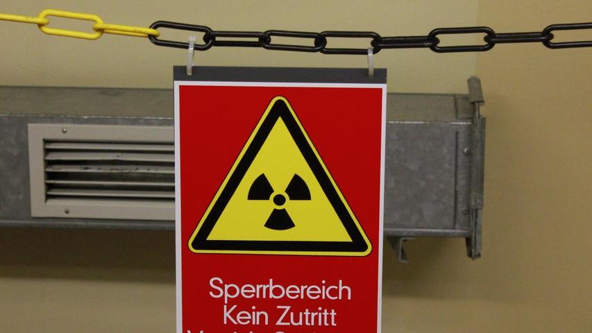 Im Sperrbereich heißt es natürlich: Vorsicht, Strahlung!