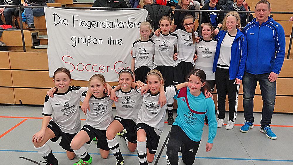 """Dritter Platz im Fußballbezirk Mittelfranken: Die SG DJK Fiegenstall war mit ihrer U13-Mannschaft erst im Halbfinale zu stoppen und holte am Ende """"Bronze""""."""