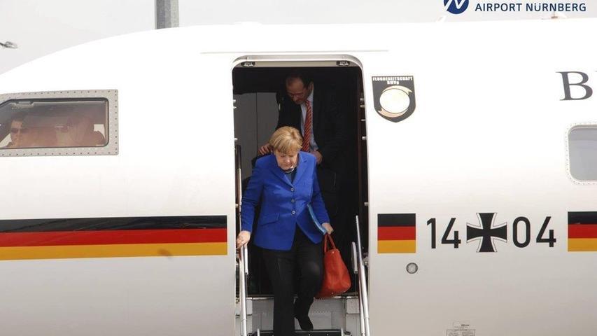 Gut gelandet war die Kanzlerin 2015 am Airport Nürnberg. Die Bundeskanzlerin besuchte damals 2015 die IHK-Fosa in der Südstadt der Noris.