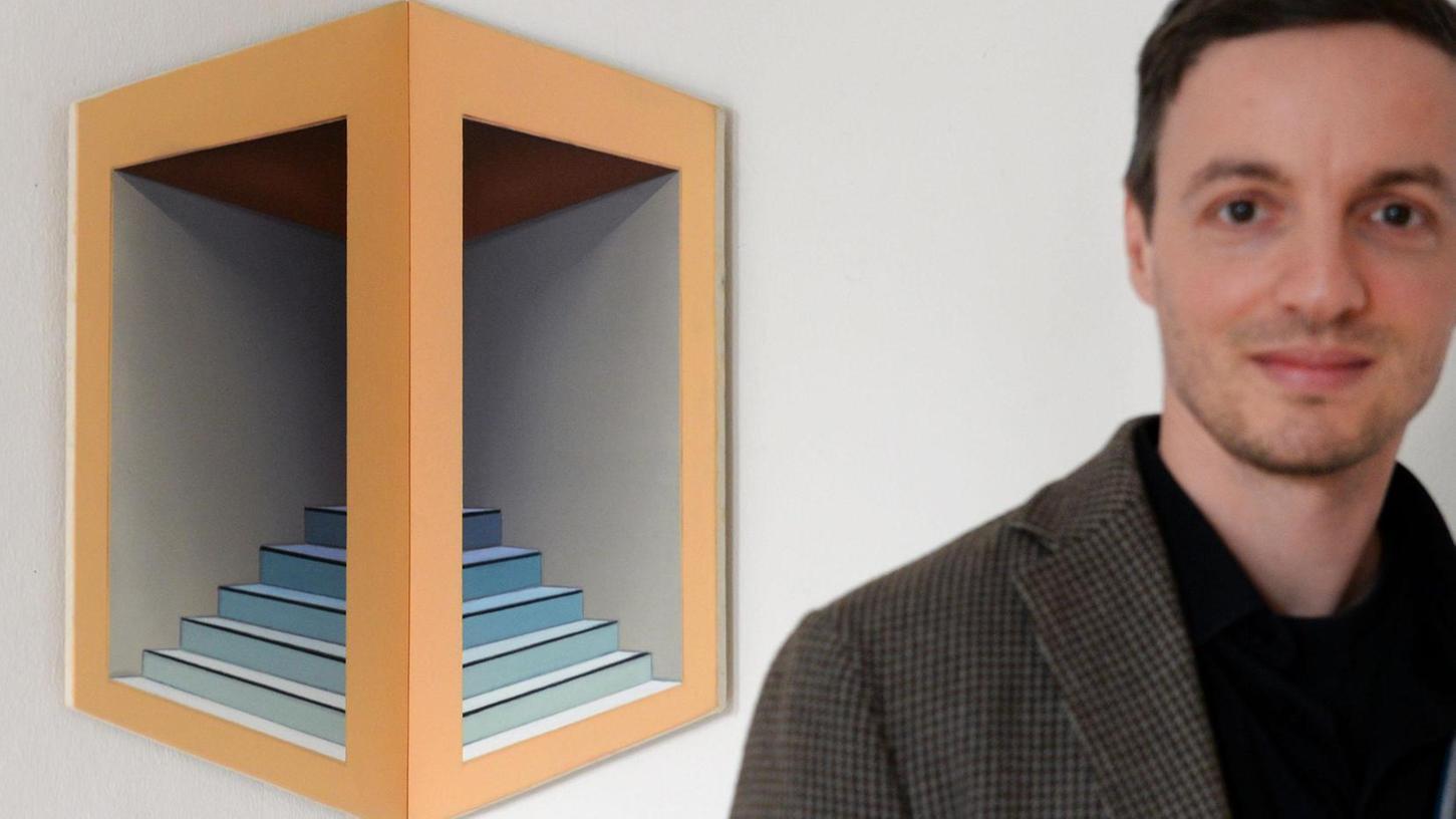 Klarheit und strenge Linienführung: Tobias Stutz, nach 2011 zum zweiten Mal in der Galerie in der Promenade zu Gast, ist dem Geist der Bauhaus-Bewegung auf der Spur.