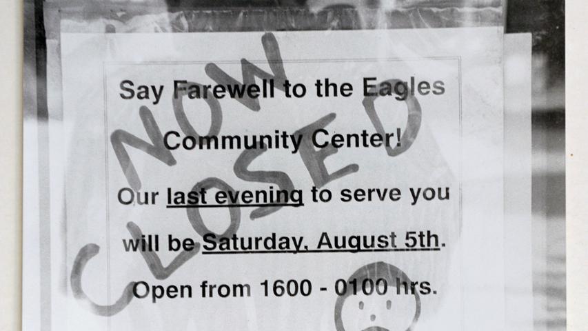 Noch so ein Schatz aus dem Archiv: ein Foto erinnert an das ehemalige Eagles Community Center, den ehemaligen Offiziers-Club in der Kalbsiedlung.