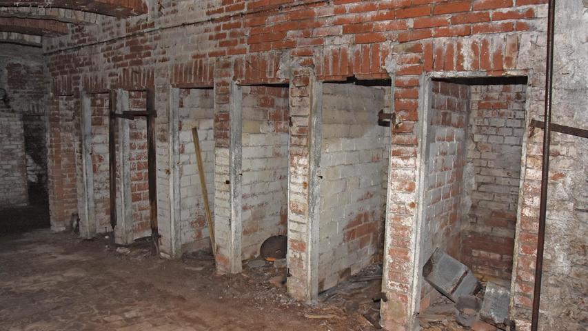Die alte Toiletten-Anlage.