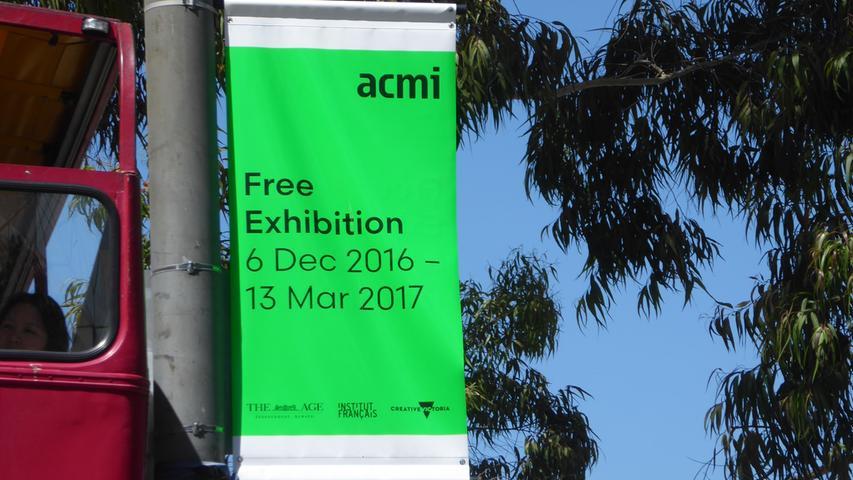 Werbung für eine kostenlose Ausstellung im Filmmuseum: Der Eintritt in Museen ist oft frei.