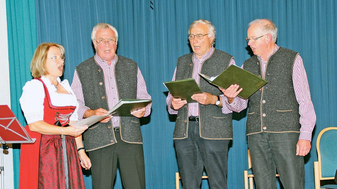 """Das Treuchtlinger Sanges-Quartett """"Drei Plus"""" ist unter anderem in der Lambertuskirche zu hören."""