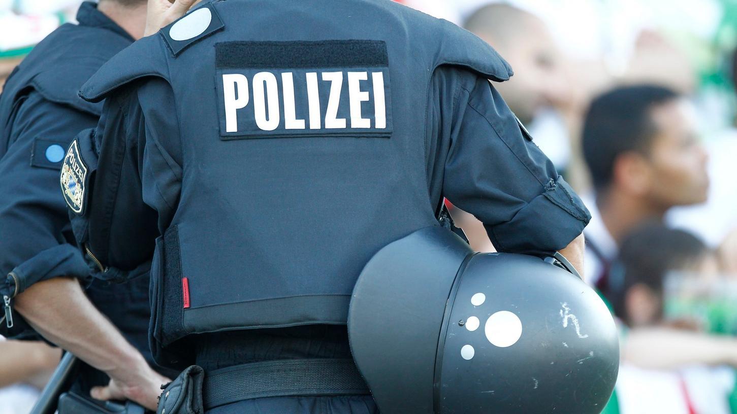 USK-Einsatzkräfte der Polizei im Einsatz.