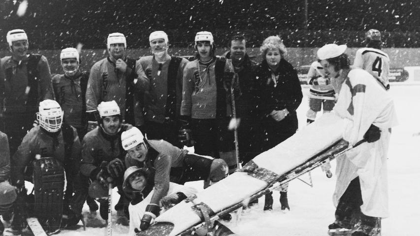 Von einer solchen Kulisse kann heute das Bayernliga-Team des EV Pegnitz nur träumen: 600 Besucher kamen vor 40 Jahren zum