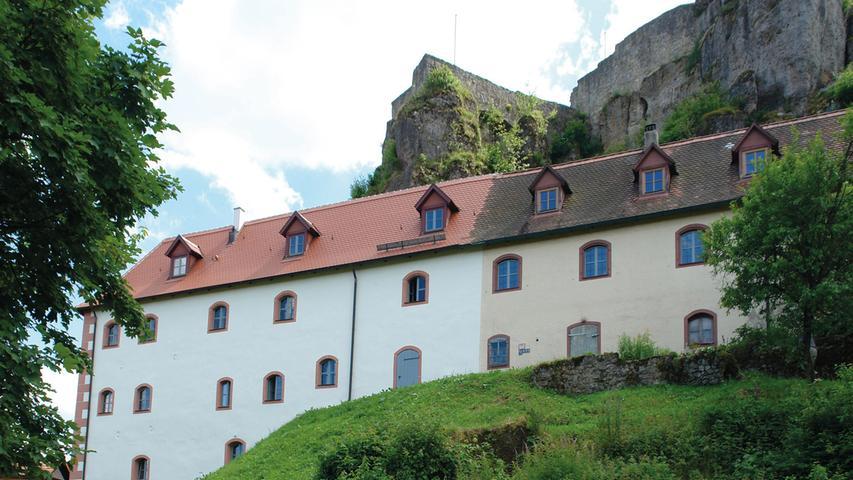 Die Burg Hohenstein ist eines der markantesten Baudenkmäler im Nürnberger Land, am höchsten Punkt in der fränkischen Alb gelegen. Die Anlage besteht aus der hochmittelalterlichen Oberburg mit Torhaus, Kapelle, Palas und den Resten eines Bergfrieds sowie aus der Unteren Burg nördlich unterhalb des Burgfelsens, dem um 1553 errichteten, langgestreckten, zweigeschossigem