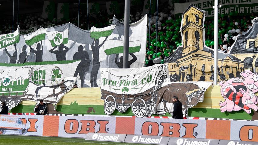 Banner, Ballons, Beef: Das 262. Frankenderby auf den Rängen