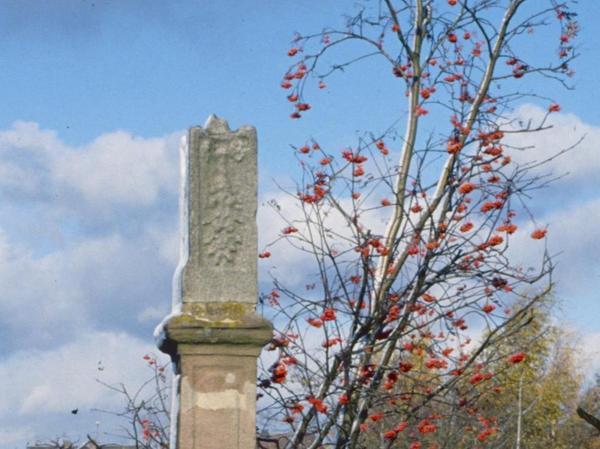 Im Volksmund Zigeunergrab genannt, steht dieser Bildstock an der früheren Grenze von Kraftshof und Buch.