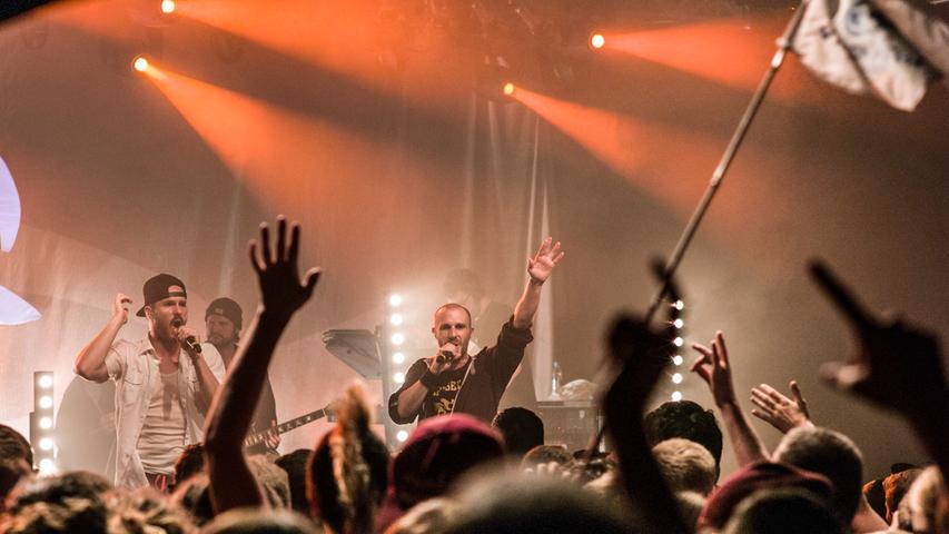 Auch der Reggae-Sound wird - wie hier beim Konzert von Ire Revoltes - gepflegt.