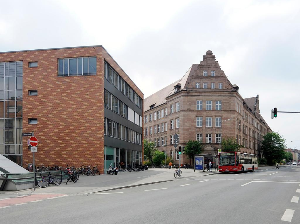 Neubau des Hans Sachs Gymnasiums, Löbleinstraße 10 in Nürnberg. ..Foto: Uwe Niklas 28.04.09