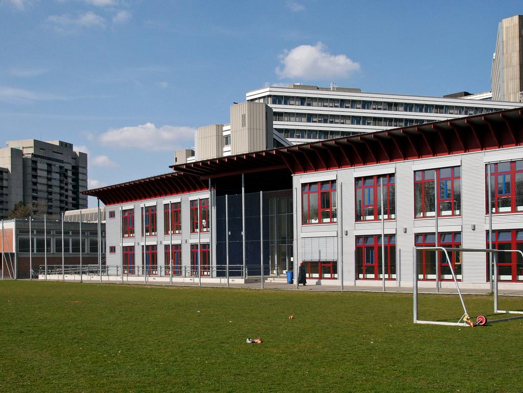 RESSORT: Anzeiger..DATUM: 27.03.14..FOTO: Michael Matejka ..MOTIV: Holzpavillon-Anbau Martin-Behaim-Gymnasium..