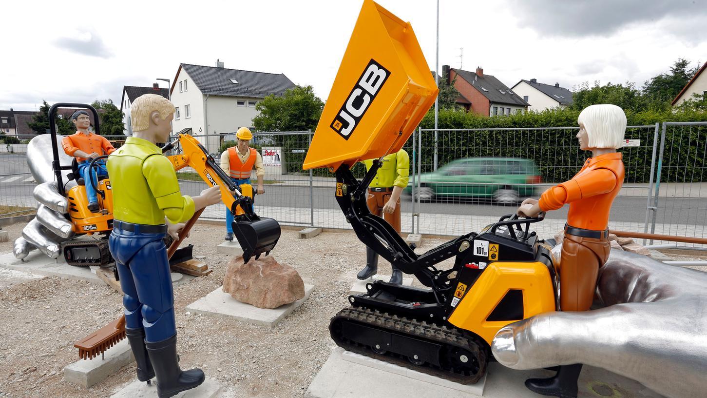 Mit einem zweiten Kreisel in Burgfarrnbach - unser Bild entstand im Jahr 2014 - können sich die Bewohner nicht anfreunden.