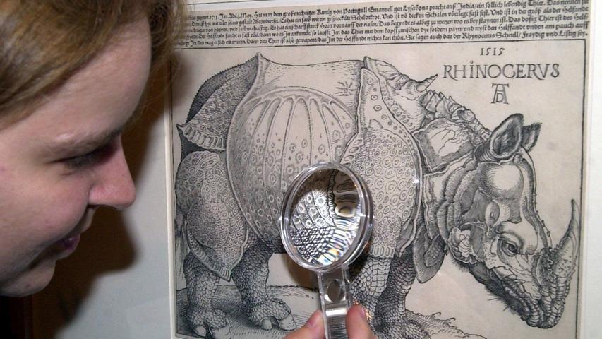 Hase und Rhinozeros sind zwei der bekanntesten Motive Dürers. Der