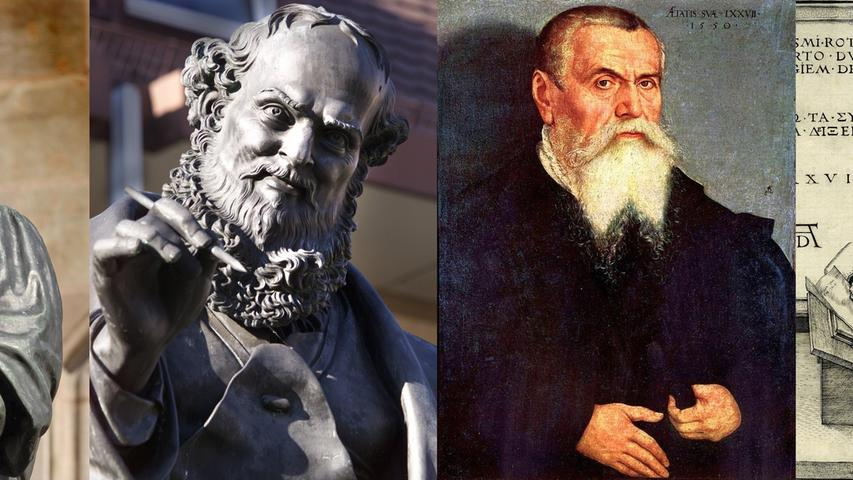 Zeitgenossen Dürers waren unter anderem (v.li.) Hans Sachs oder Lucas Cranach d. Ä.