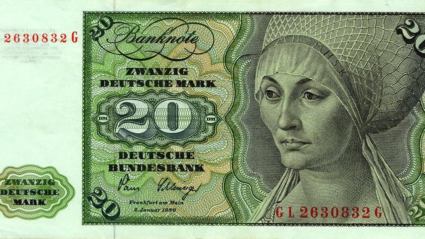 Mit der D-Mark verschwand auch Dürers Porträt der Elsbeth Tucher aus den Geldbeuteln der Deutschen.
