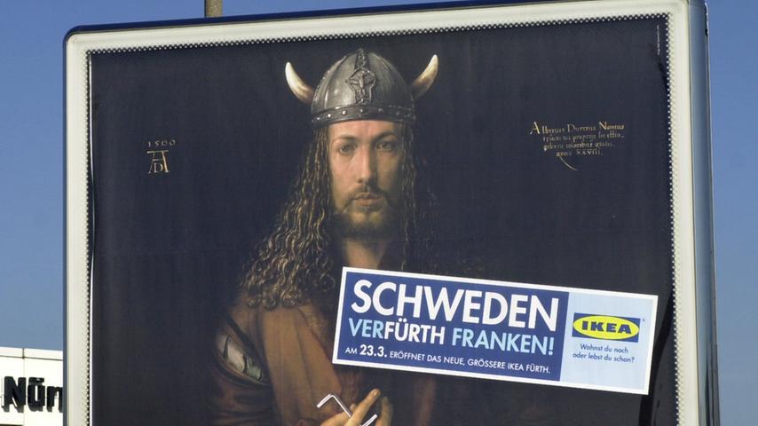 Echt stark: Dürer taugt auch als Werbeträger, hier für ein großes Möbelhaus.