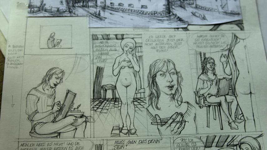 Bücher über Dürer gibt es zuhauf, aber auch Comics sind dem Meister gewidmet, wie dieser von Ingrid Sabisch.