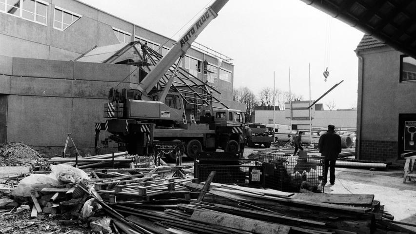 Die alte Bosch-Niederlassung musste dem Neubau weichen.