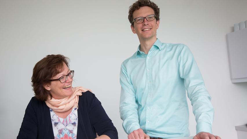 Kerstin Hoyer und Peter Klinger im Gespräch.