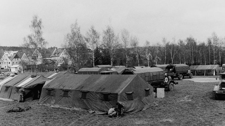 In eine kleine Garnisonsstadt verwandelte die 2. Kompanie des gemischten Sanitätslehrbattaillons 865 München vor 40 Jahren den Wiesweiher-Park in Pegnitz. Die Kompanie, die auch als
