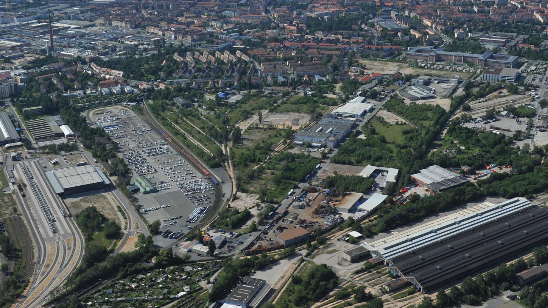 Auf diesem Areal an der Brunecker Straße soll der neue Uni-Campus entstehen.