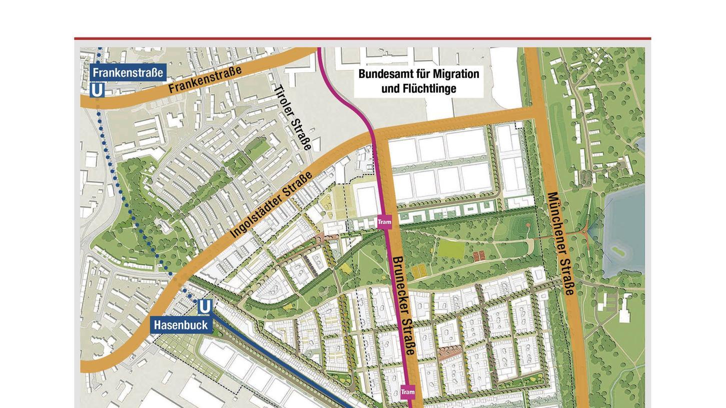 Auf diesem Ex-Bahngelände im Stadtsüden soll die neue Uni entstehen. Die Straßenbahn wird das Areal durchqueren.  Klicken Sie hier um die Ansicht der Infografik zu vergrößern.