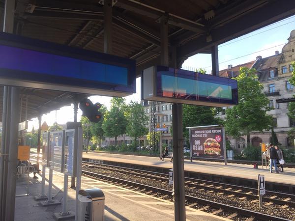 Am Fürther Hauptbahnhof kam es am Samstagabend noch zu Ausfällen an den Anzeigetafeln.